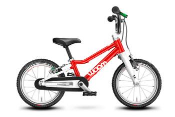 woom kids red bike